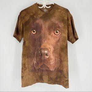 The Mountain Chocolate Labrador Unisex T-Shirt